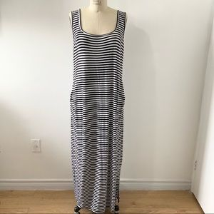 OLD NAVY BlackWhite Stripe Maternity Maxi Dress XL